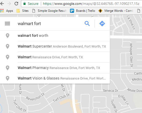 how to search for your business in google maps
